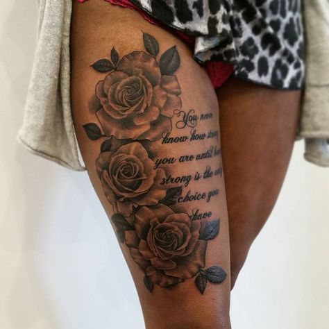 25 Gorgeous Thigh Tattoos For Women