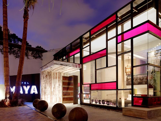 Hotel Maya - a DoubleTree hotel in Long Beach, CA is exotic and upscale offering full-service amenities overlooking the Long Beach Pier and downtown Los Angeles.