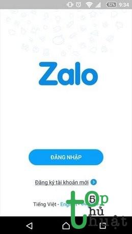Khởi động và đăng nhập Zalo