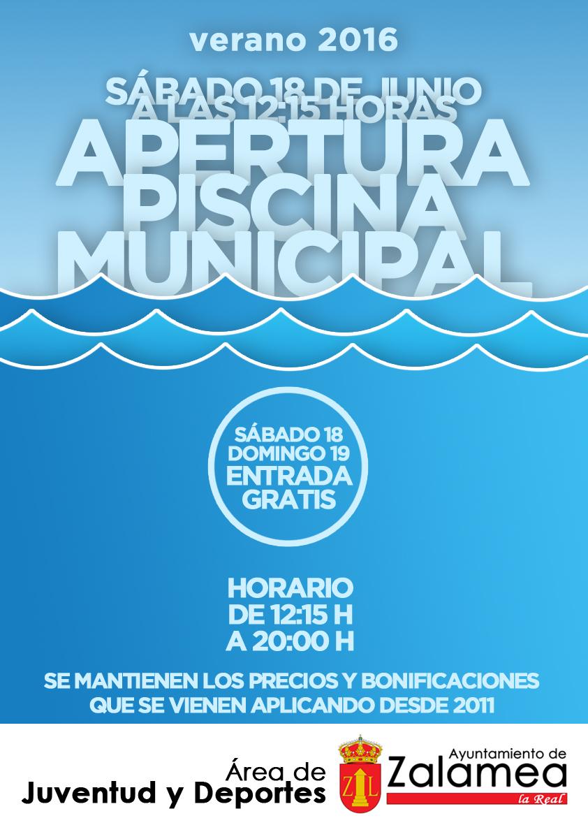 Zalamea La Otra Mirada Apertura de la piscina municipal