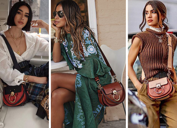Chloe Tess bag street style outfits