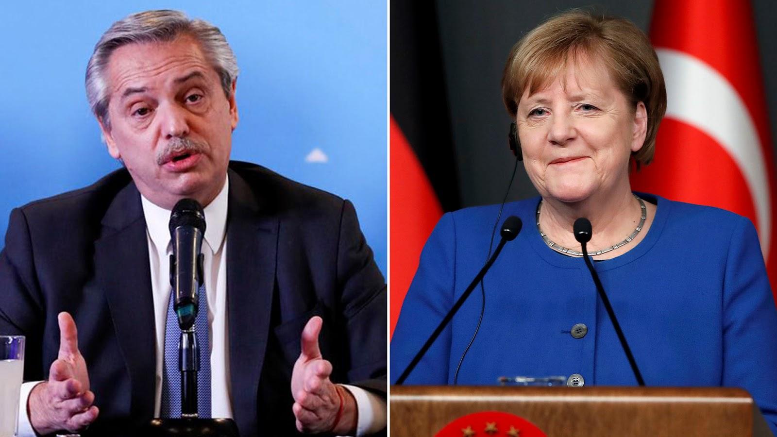 Alberto Fernández habló con Angela Merkel sobre las gestiones por la deuda y políticas aplicadas por coronavirus