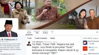 Sementara terkait cuitan SBY, Jokowi mengajak masyarakat untuk memerangi Hoax dan jangan banyak mengeluh.