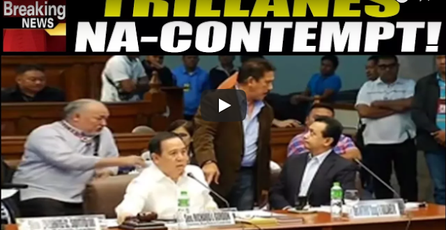 "Trillanes Na ""OUT OF ORDER Sa Senado"" Ipapacontempt Na Ni Gordon!"