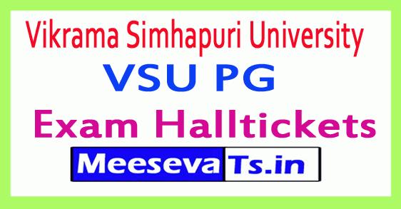 Vikrama Simhapuri University VSU PG Exam Hall Tickets