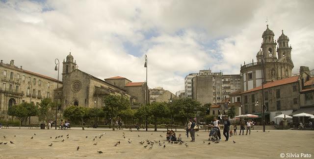 Plaza central pontevedresa