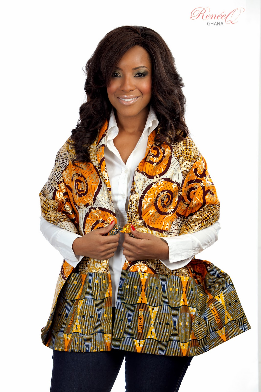 LOOK FLY IN A RENEE Q AFRICAN PRINT BP SHAWL | CIAAFRIQUE ...
