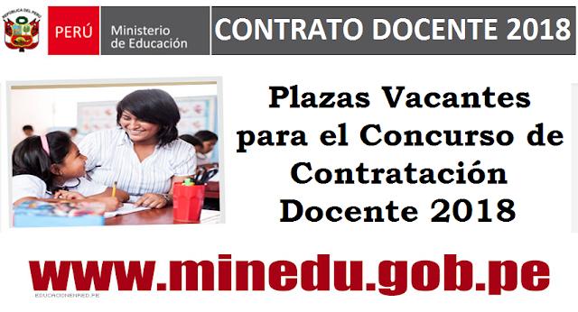 Plazas vacantes para el concurso de contrataci n docente for Plazas vacantes concurso docente 2016