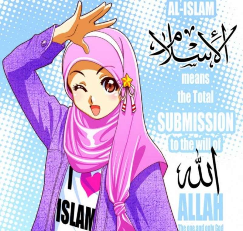 750 Gambar Kartun Lucu Anak Muslimah Gratis Terbaik