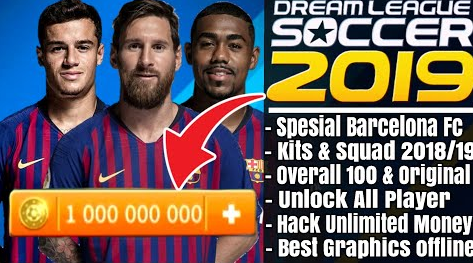 Download DLS 19 Mod Barcelona Overall 100, Unlock player ~ Embuh Droid