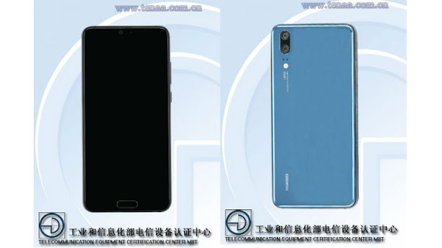 Huawei P20 Design Leaked With Alleged Listing on Certification Site TENAA