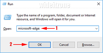 Open Microsoft Edge from Run Dialog and Command Prompt