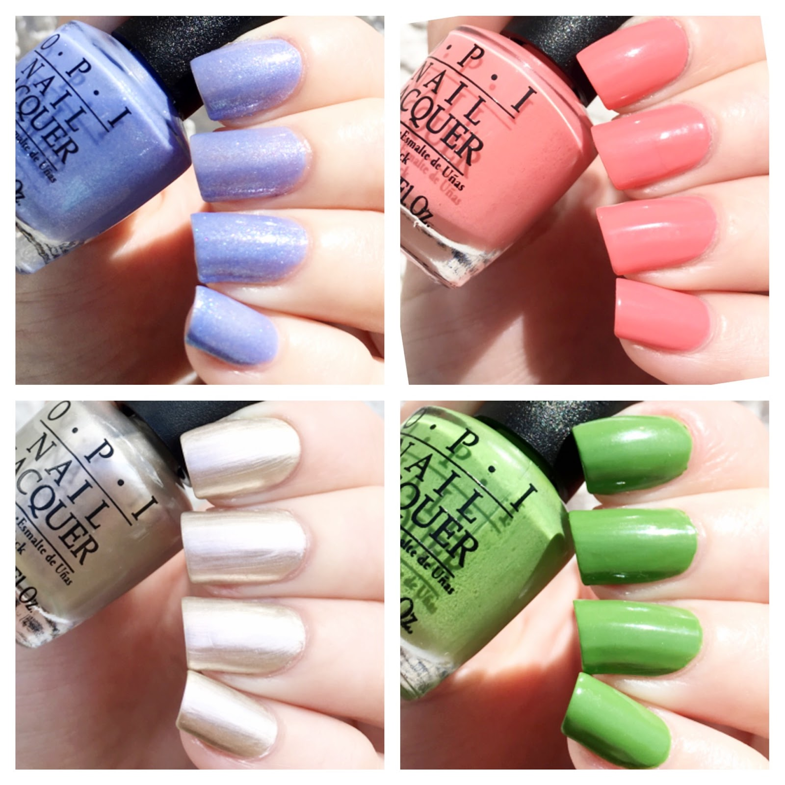 cat eyes & skinny jeans: OPI New Orleans 4PC Mini Set Swatches + Review