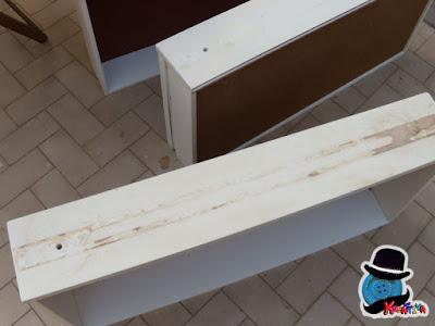 come rimuovere supporti di legno per recupero cassettiera
