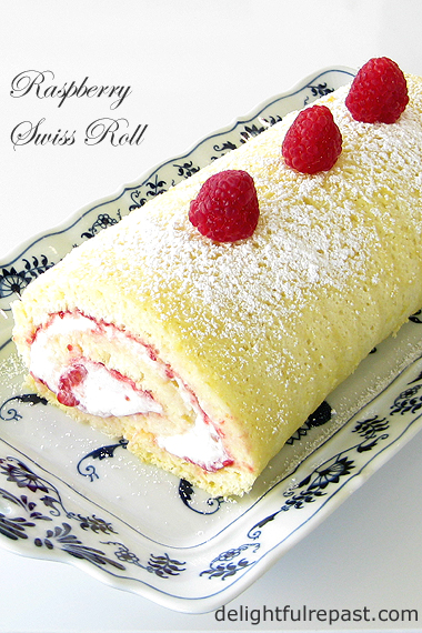 Raspberry Swiss Roll - It's easier than you think - Roll it once, no cracking / www.delightfulrepast.com