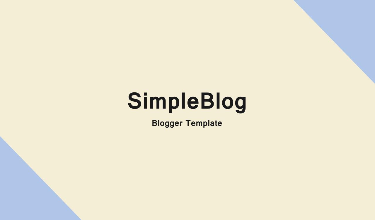 free blogger template dengan desain minimalis