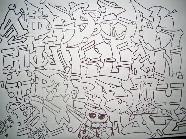 New Graffiti Art Draw Graffiti Alphabet Letters Different Styles