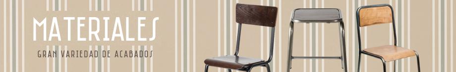 materiales de mobiliario hosteleria