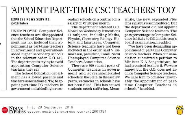 APPOINT PTA CSC TEACHERS  TOO'