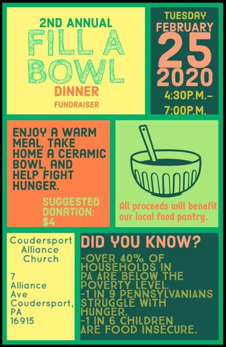 "2-25 ""2nd Annual Fill a Bowl"" Fundraiser"