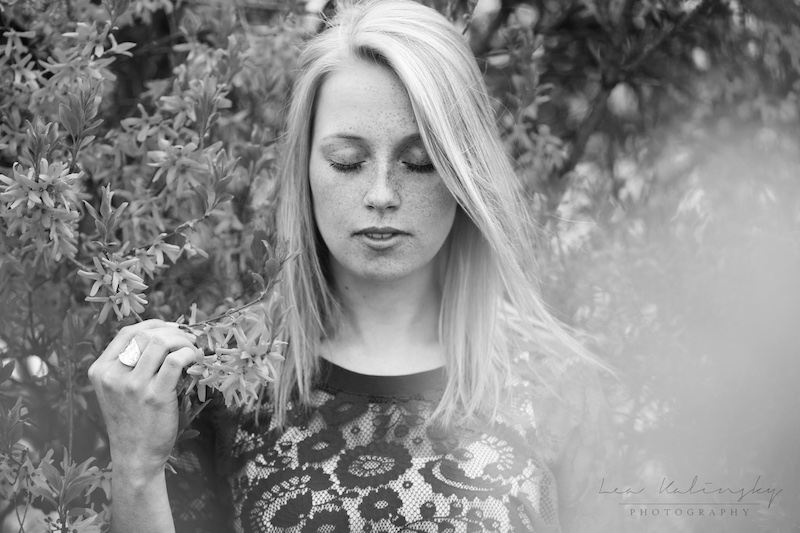emotionales schwarz weiß Portrait