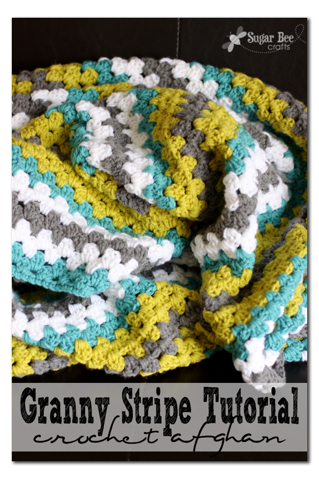 Modren Granny Stripe Crochet Blanket Afghan Throw Blanket Pattern