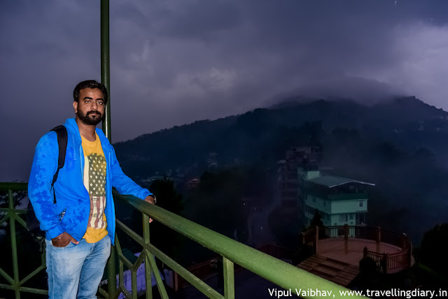 vipul vaibhav posing at tashi view point