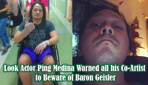 Look Actor Ping Medina Warned all his Co-Artist to Beware of Baron Geisler