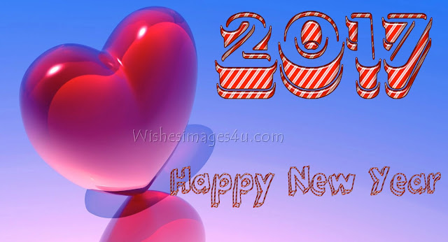 New Year 2017 Love 3D Background