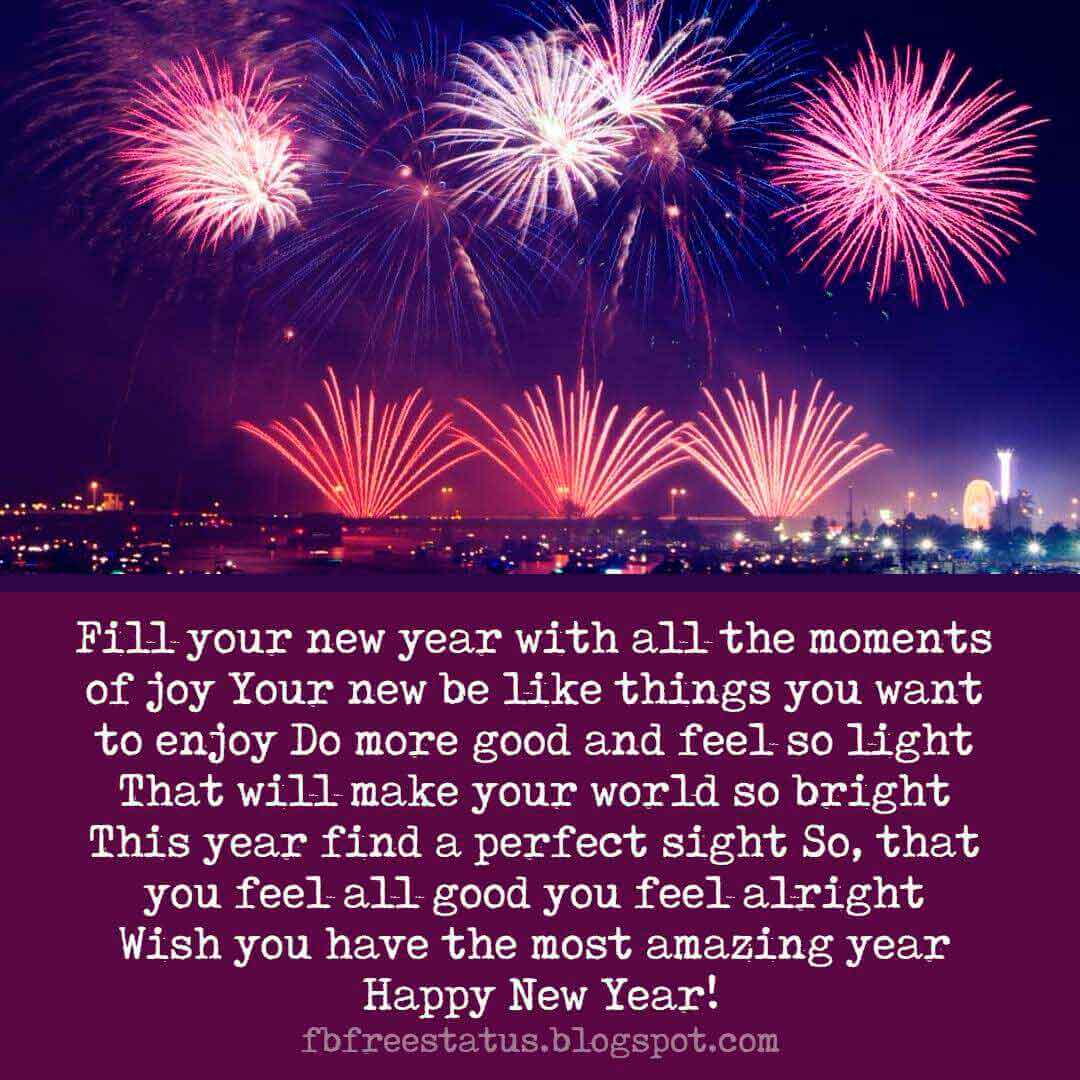Happy New Year Greeting Card Wishes and New Year Wishes Images.