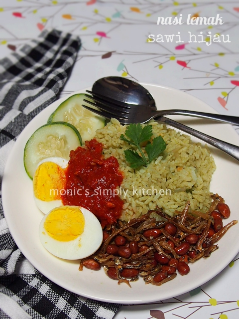 resep nasi lemak sawi hijau