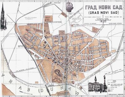 ulice novog sada mapa NSinfo: Istorija NS: 1922. mapa Novog Sada ulice novog sada mapa