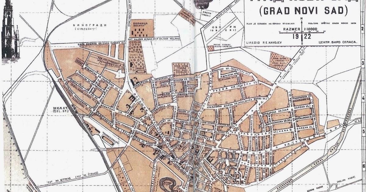 Nsinfo Istorija Ns 1922 Mapa Novog Sada