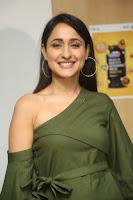 Pragya Jaiswal in a single Sleeves Off Shoulder Green Top Black Leggings promoting JJN Movie at Radio City 10.08.2017 105.JPG