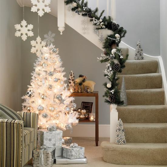 Christmas Decoration: Ideas For White Christmas Trees
