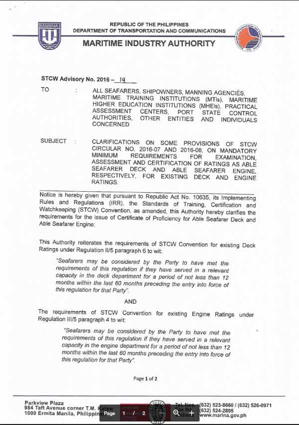 no more assessment for cop ii 5 iii 5 applicants for able