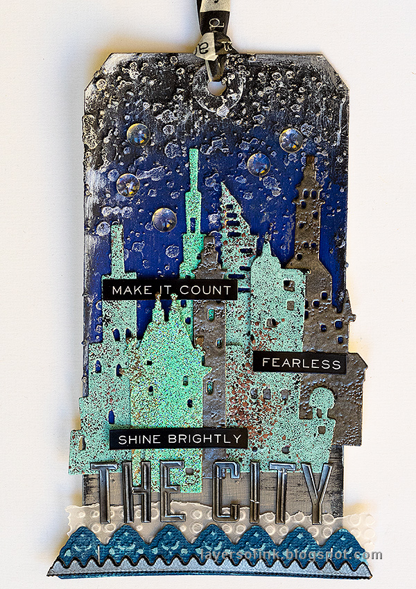 Layers of ink - Embossed Cityscape Tutorial by Anna-Karin Evaldsson.