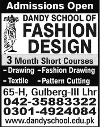 Dandy School Of Fashion Design Lahore School Style