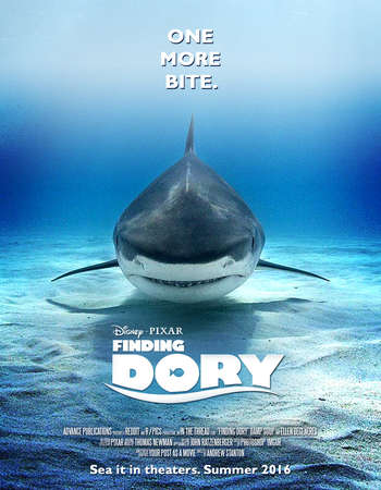 Poster Of Finding Dory 2016 English 700MB Cam x264 Free Download Watch Online Worldfree4u