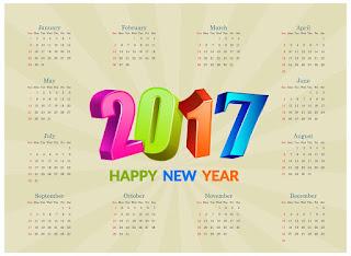 2017カレンダー無料テンプレート16