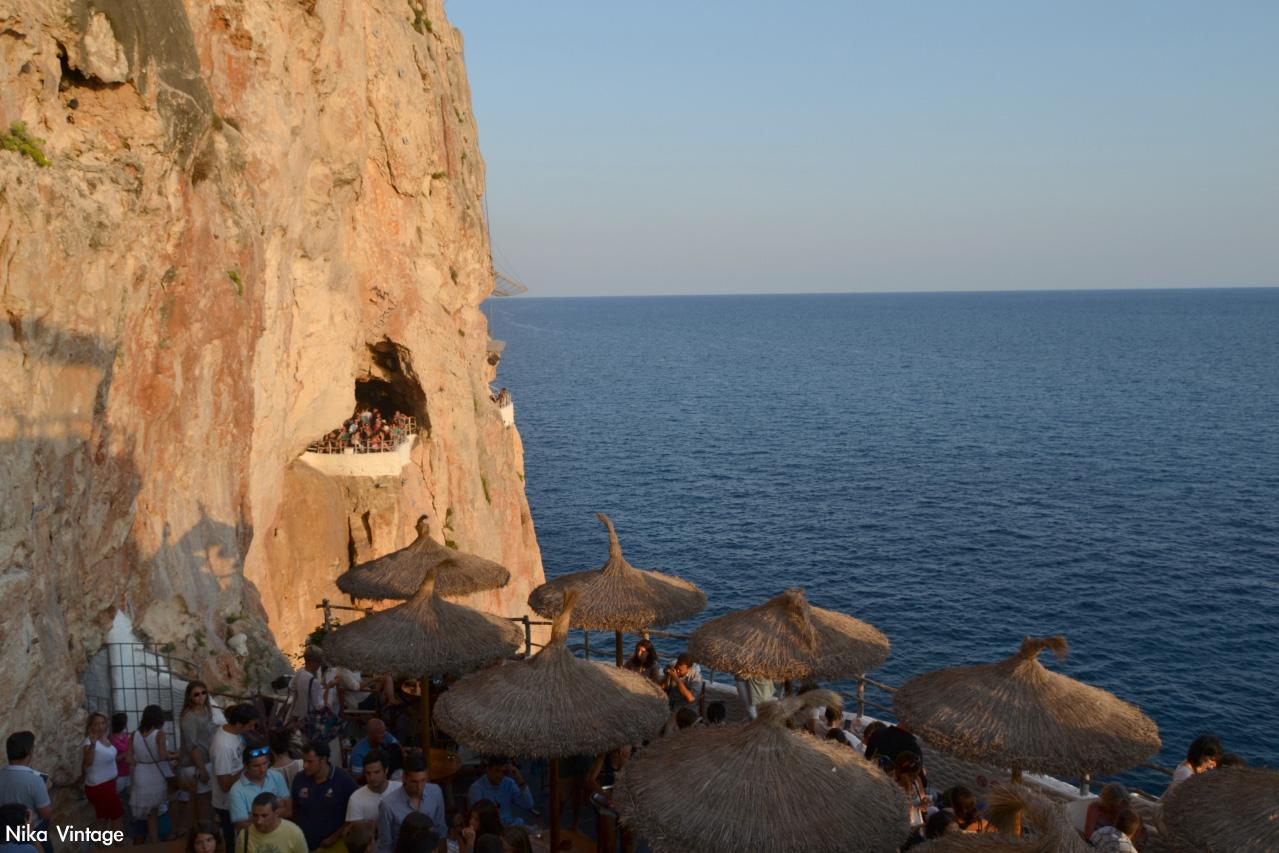 anochecer, ocaso, Atardecer, La Cova d'en Xoroi, concierto, vistas, terrazas