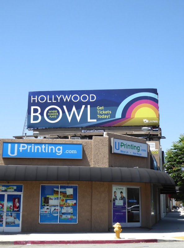 Hollywood Bowl 2016 billboard