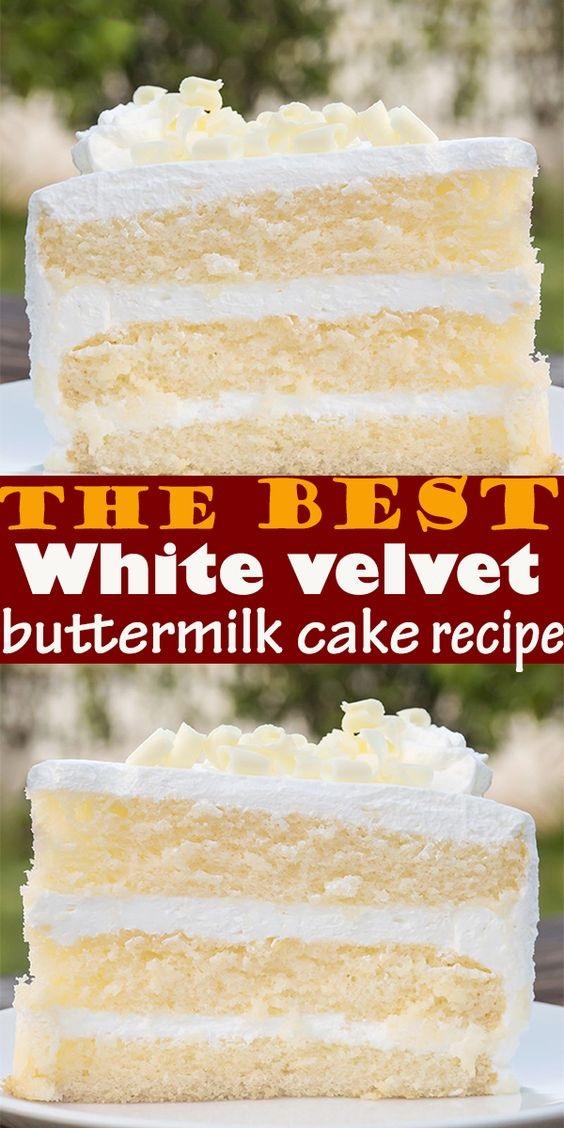 The Best White Velvet Buttermilk Cake Recipe