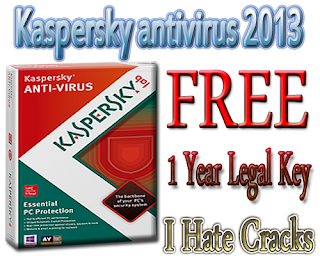 Kaspersky antivirus 2013 Free Downlod With 1 Year Key For Free