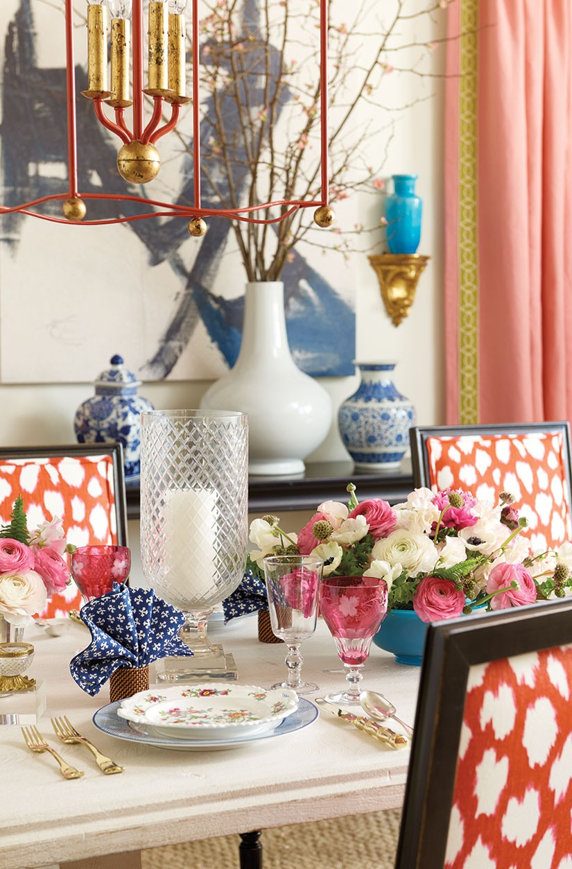 Office Makeover Inspiration: Affordable Luxe, Coral & Gold via monicawantsit.com