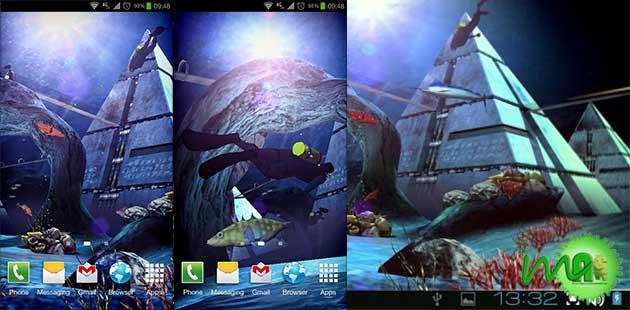 Atlantis 3D Pro Live Wallpaper screenshot