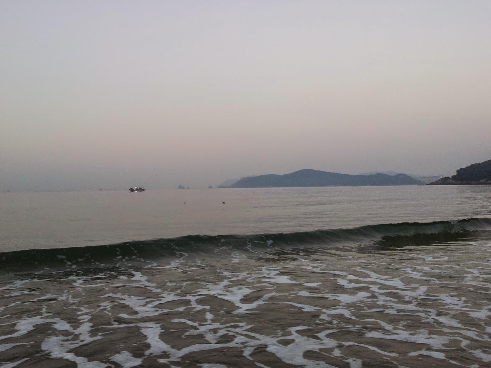 waves from Busan Haeundae beach