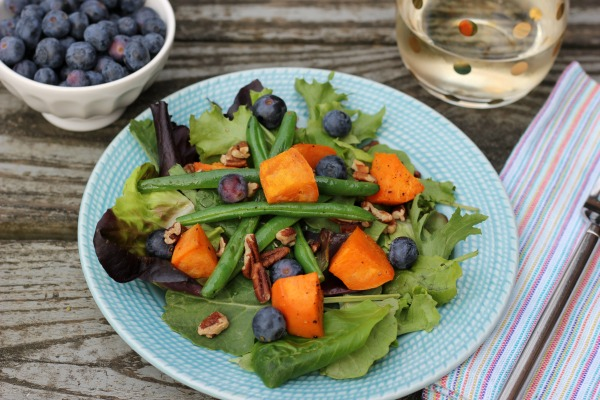 Roasted Vegetable & Blueberry Salad