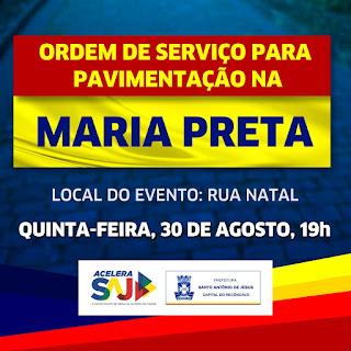 Prefeitura assina ordem de serviço para pavimentações na Maria Preta
