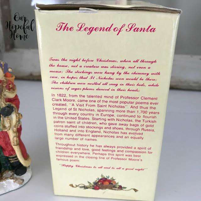 Saint Nicholas Czechoslovakia  figurine box Legend of Santa
